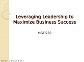 MGT 230 Week 5 Management and Leadership Presentation