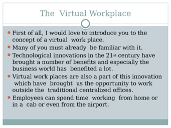 The  Virtual Workplace persuasive presentation