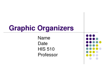 HIS 510 Graphic Organizers
