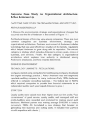 capstone case study on organizational architecture arthur andersen llp